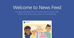 Nieuw algoritme Facebook